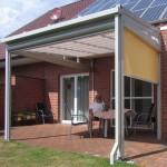 Sonnenschutzrollos Terrasse